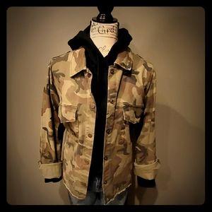 Sanctuary- Snap front military jacket